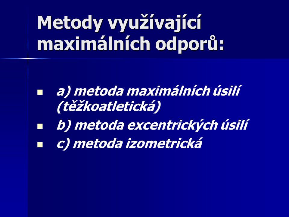 Metody využívající maximálních odporů: