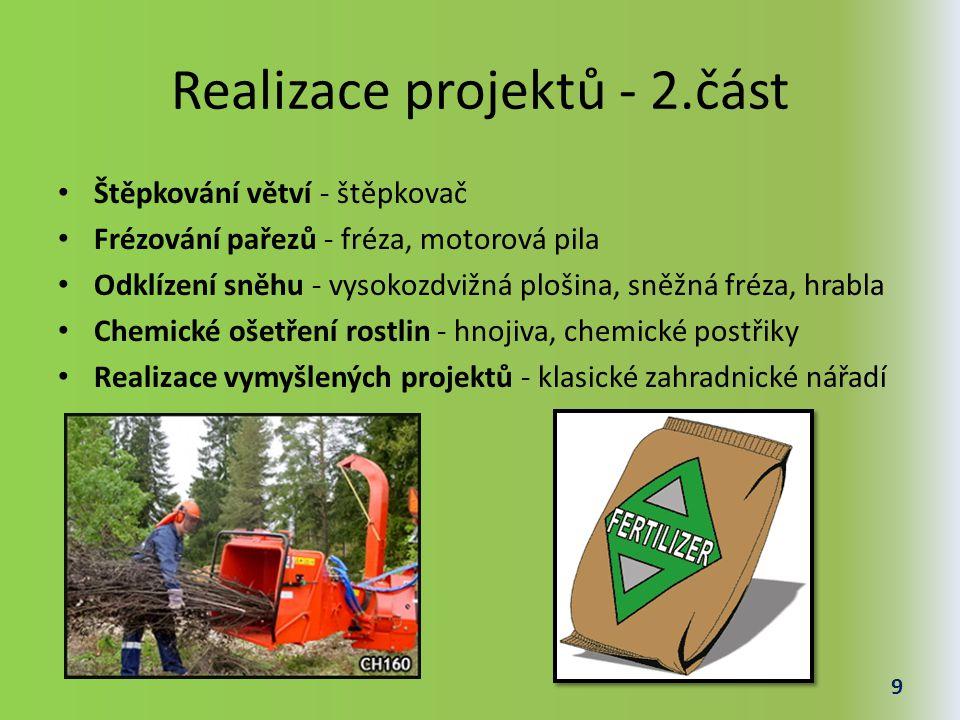 Realizace projektů - 2.část