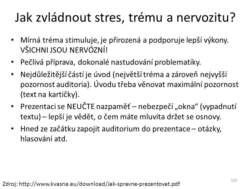 Jak zvládnout stres, trému a nervozitu