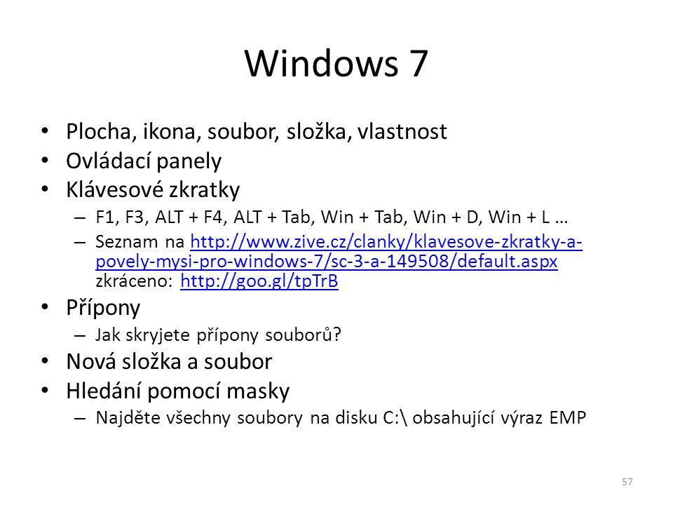 Windows 7 Plocha, ikona, soubor, složka, vlastnost Ovládací panely