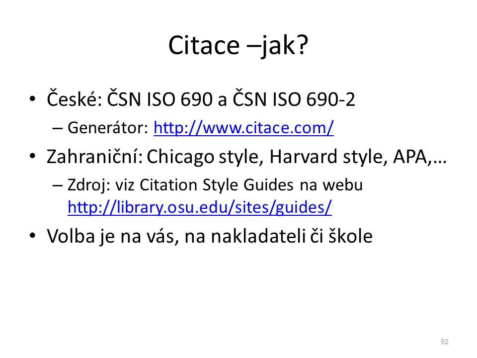 Citace –jak České: ČSN ISO 690 a ČSN ISO 690-2