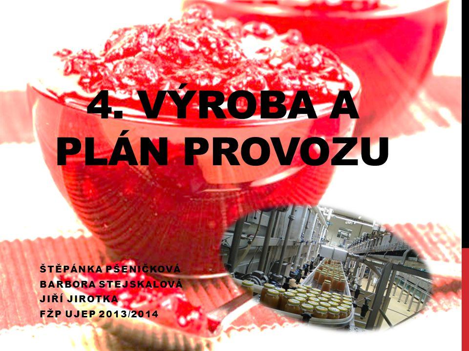 4. Výroba a plán provozu Štěpánka Pšeničková Barbora Stejskalová