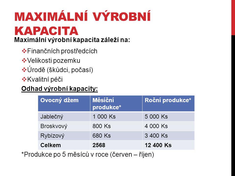 Maximální výrobní kapacita