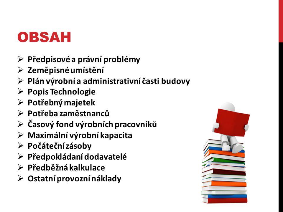 oBSAH Předpisové a právní problémy Zeměpisné umístění
