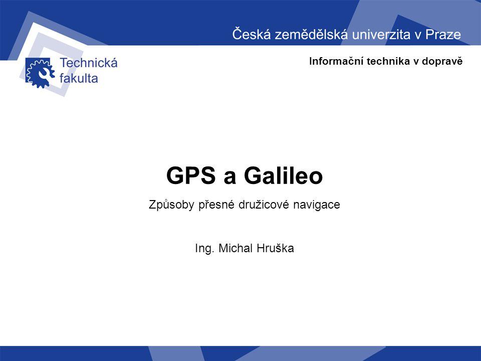 Způsoby přesné družicové navigace
