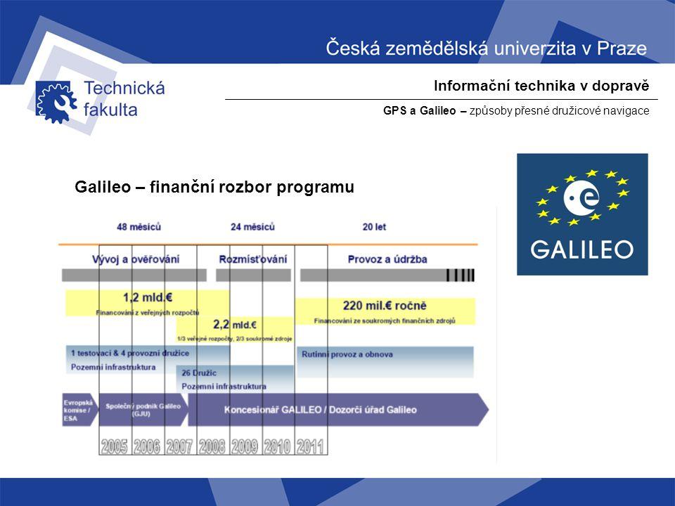 Galileo – finanční rozbor programu