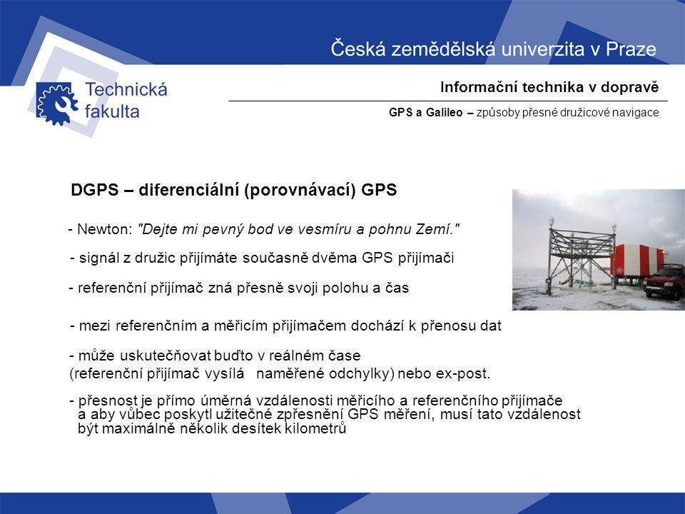 DGPS – diferenciální (porovnávací) GPS