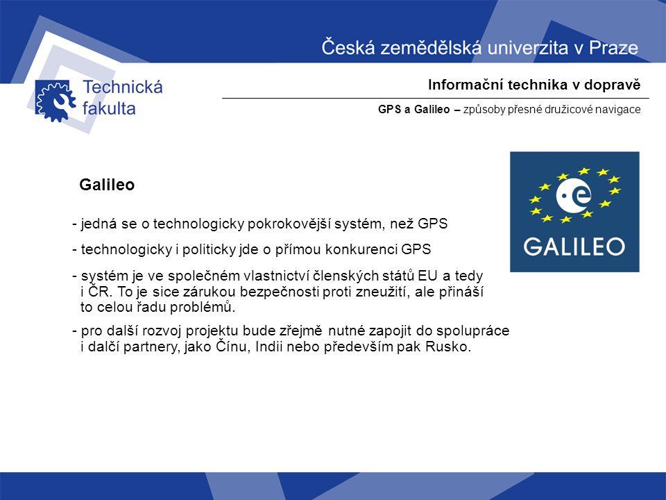 Galileo Informační technika v dopravě