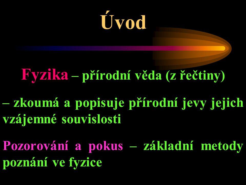 Fyzika – přírodní věda (z řečtiny)