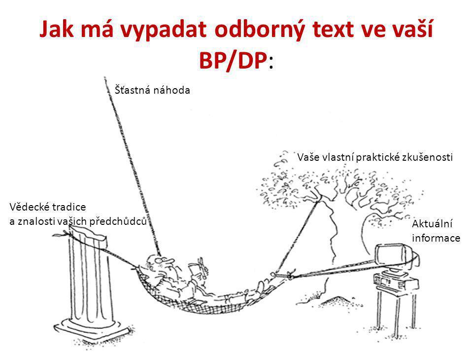Jak má vypadat odborný text ve vaší BP/DP:
