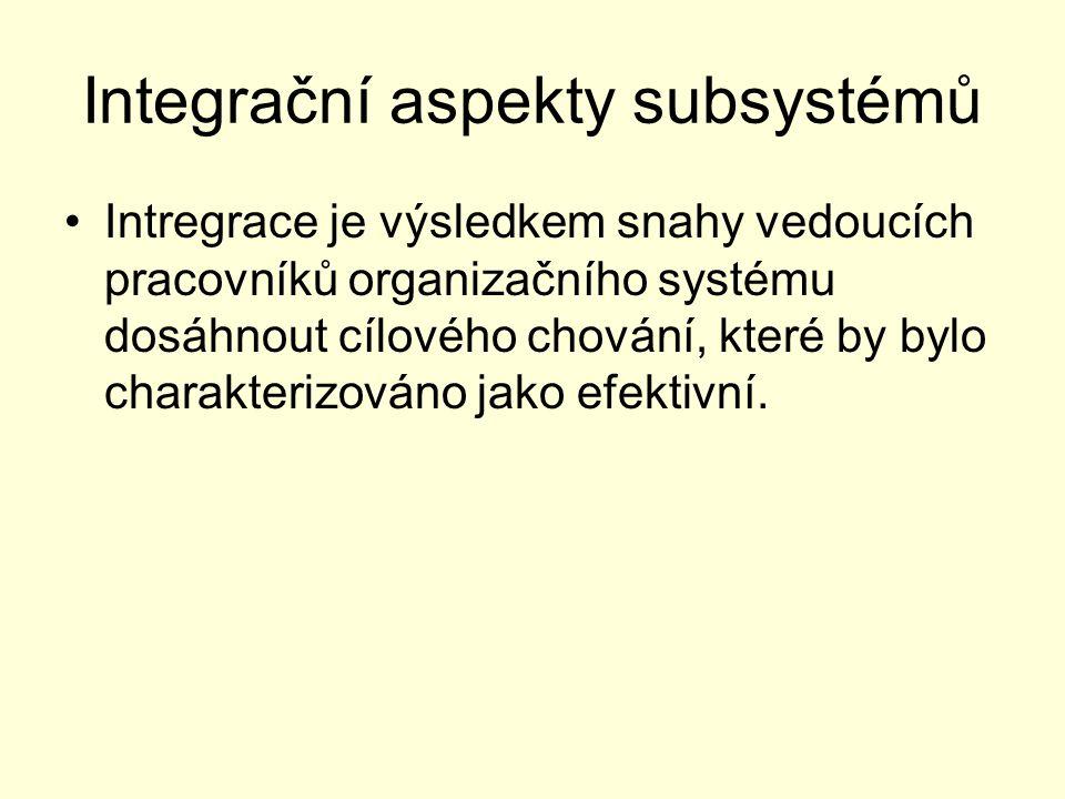 Integrační aspekty subsystémů