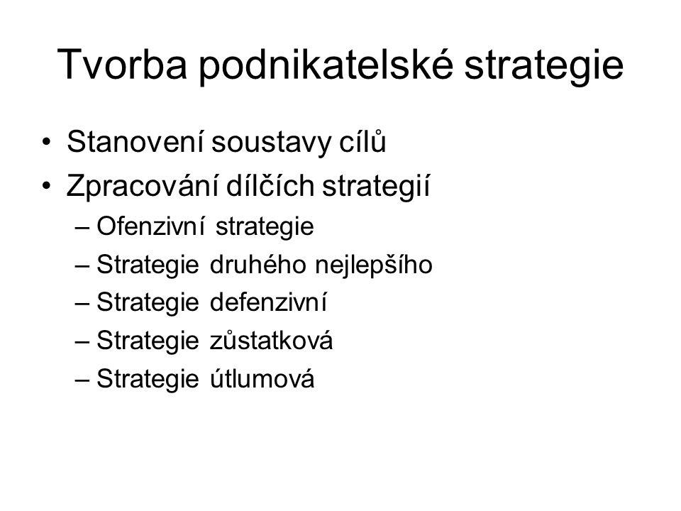 Tvorba podnikatelské strategie