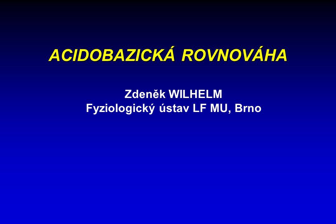 ACIDOBAZICKÁ ROVNOVÁHA Fyziologický ústav LF MU, Brno