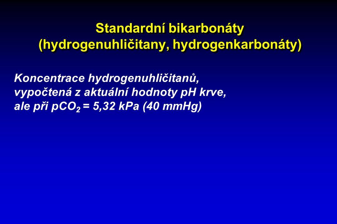 Standardní bikarbonáty (hydrogenuhličitany, hydrogenkarbonáty)