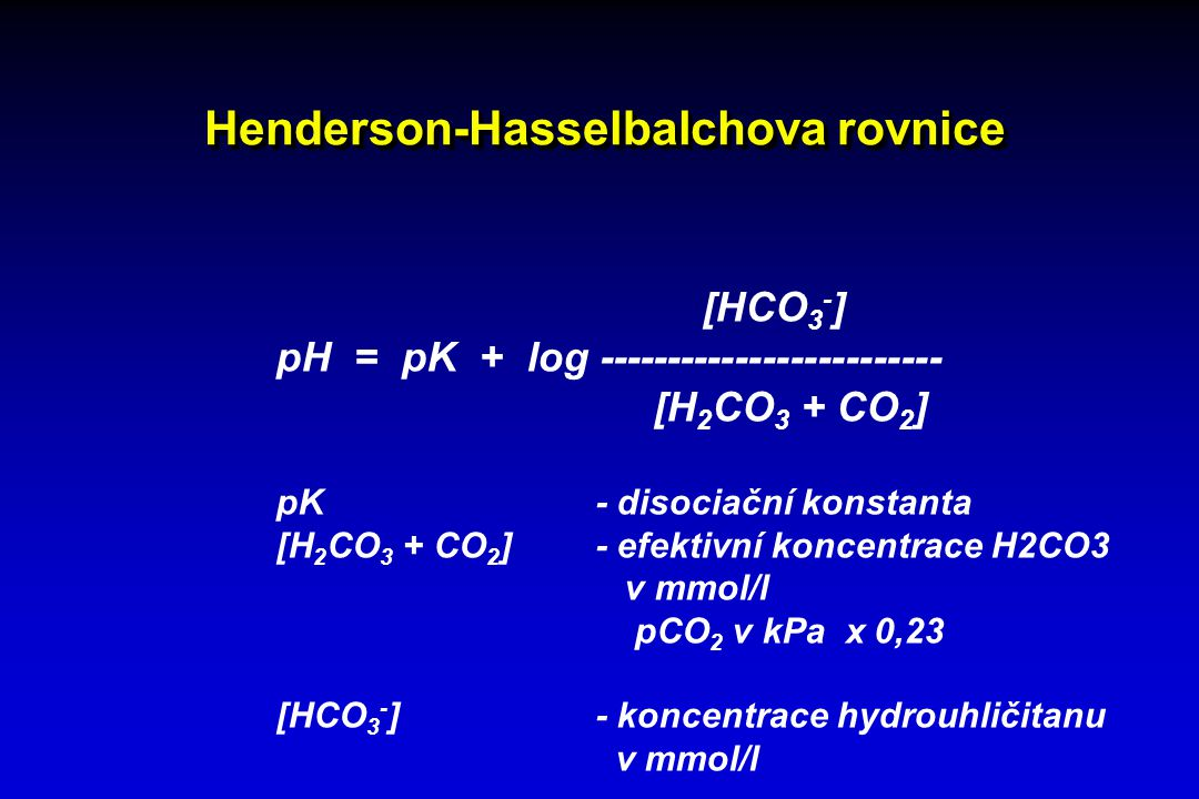 Henderson-Hasselbalchova rovnice