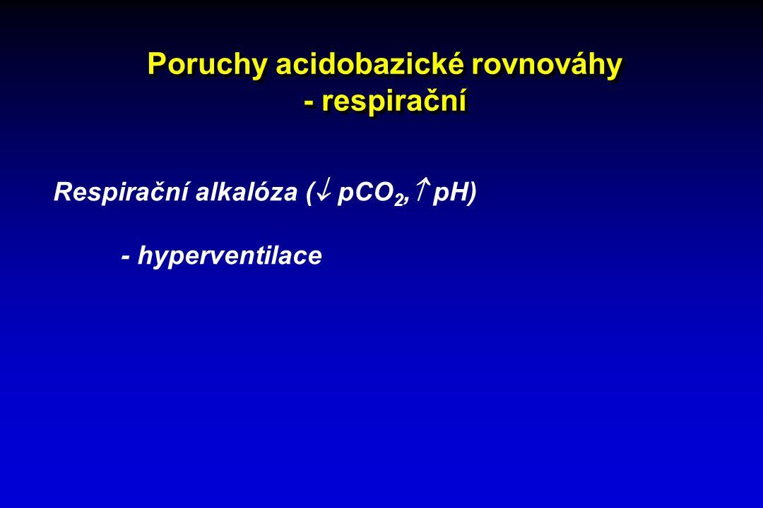 Poruchy acidobazické rovnováhy - respirační