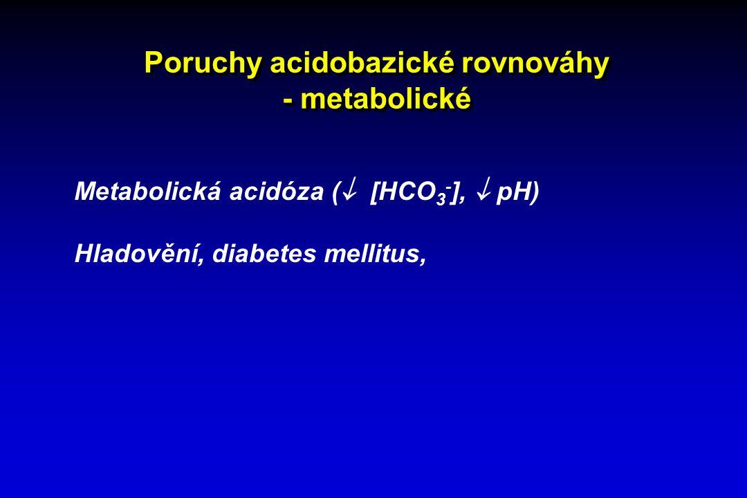Poruchy acidobazické rovnováhy - metabolické