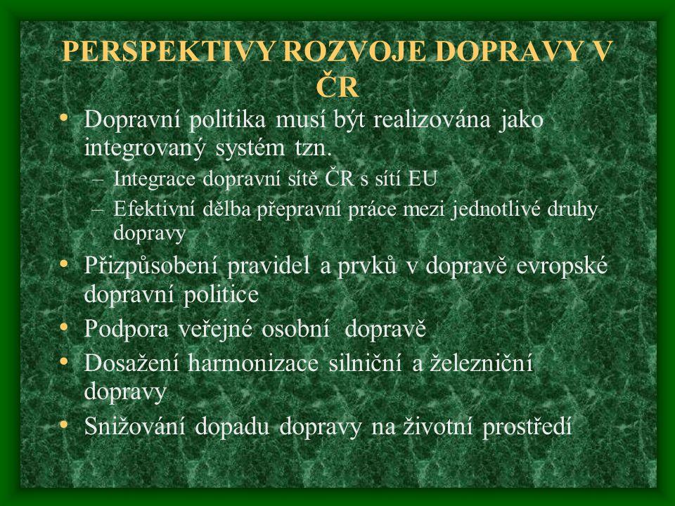 PERSPEKTIVY ROZVOJE DOPRAVY V ČR