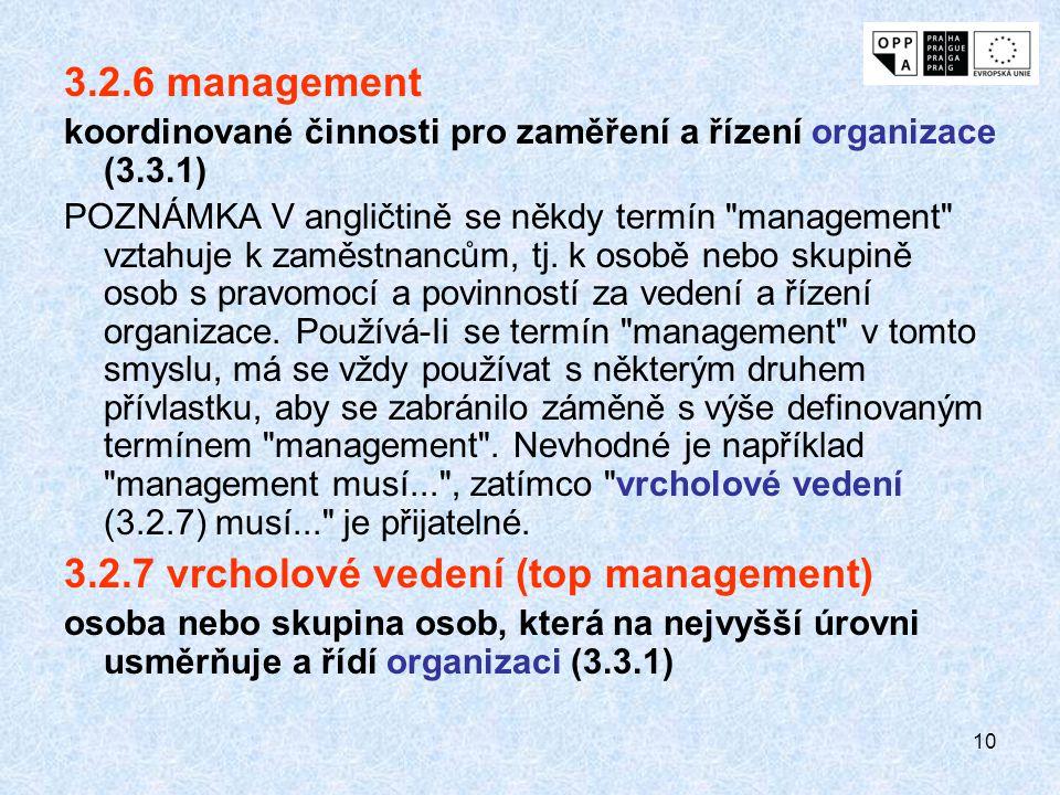 3.2.7 vrcholové vedení (top management)