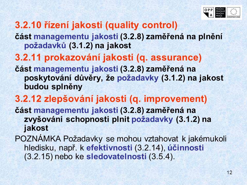 3.2.10 řízení jakosti (quality control)
