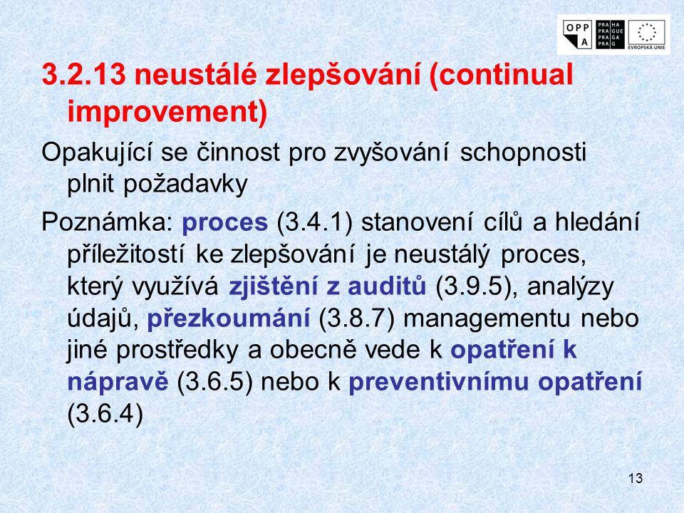3.2.13 neustálé zlepšování (continual improvement)