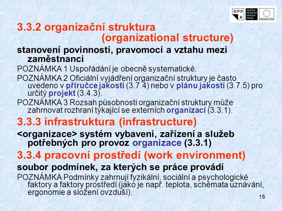 3.3.2 organizační struktura (organizational structure)