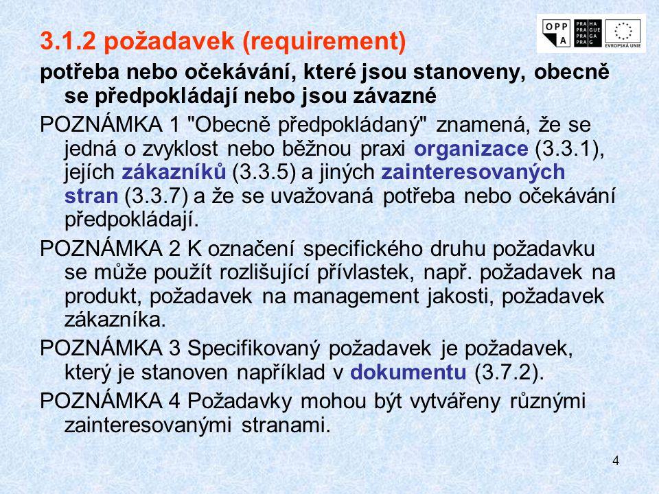 3.1.2 požadavek (requirement)