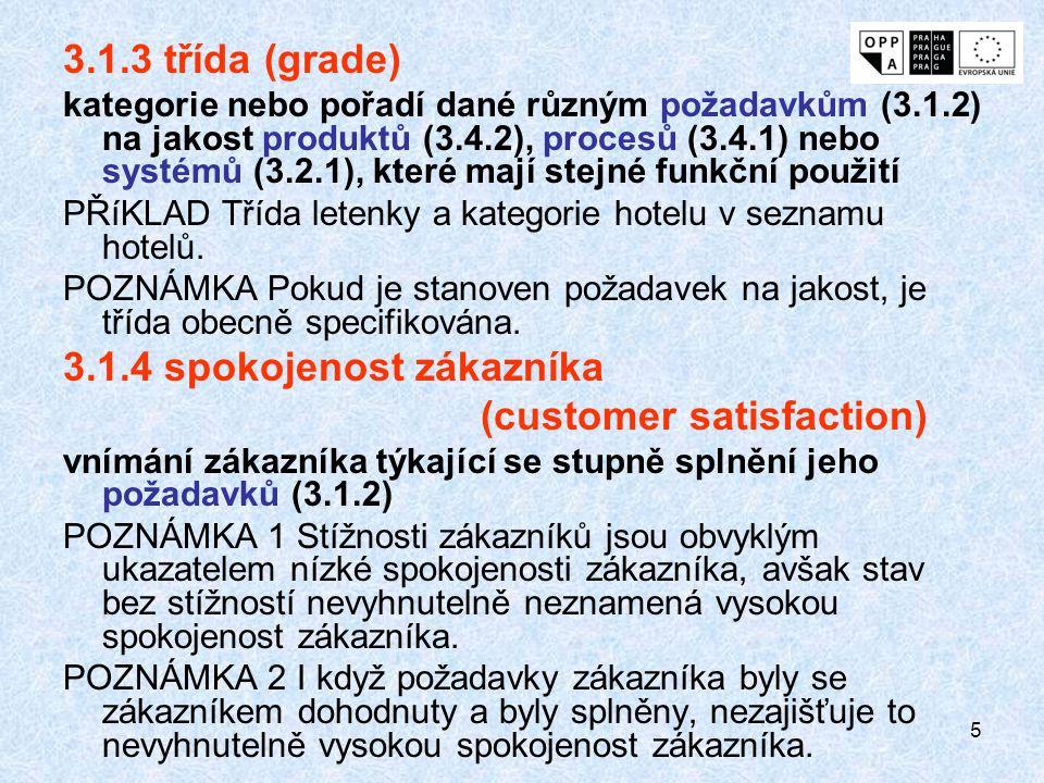 3.1.4 spokojenost zákazníka (customer satisfaction)