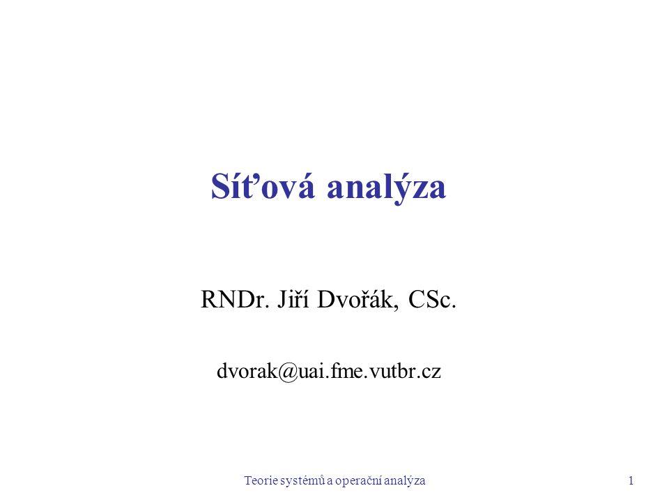 RNDr. Jiří Dvořák, CSc. dvorak@uai.fme.vutbr.cz