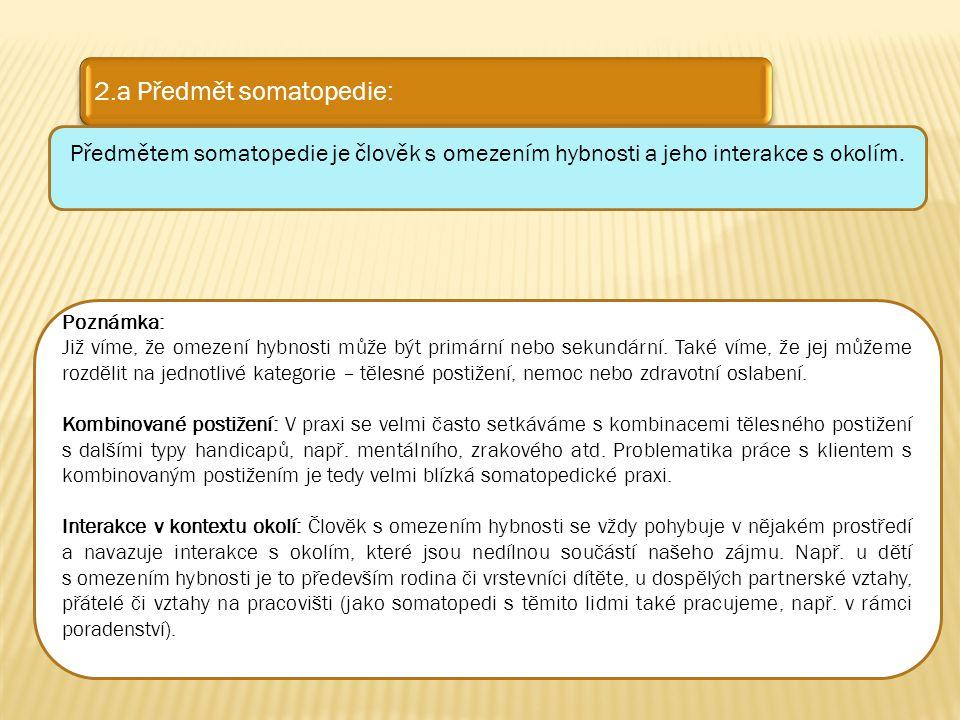 2.a Předmět somatopedie: