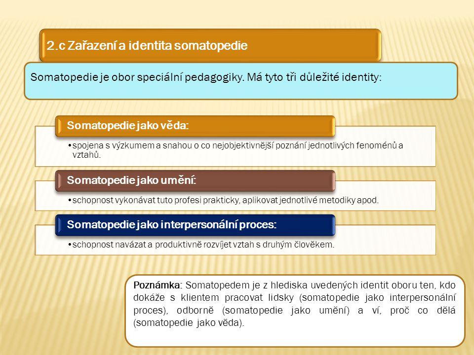 2.c Zařazení a identita somatopedie