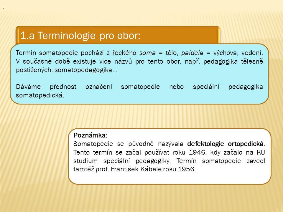. 1.a Terminologie pro obor: