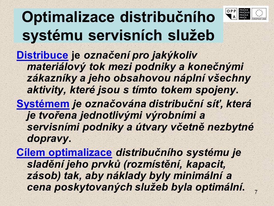 Optimalizace distribučního systému servisních služeb