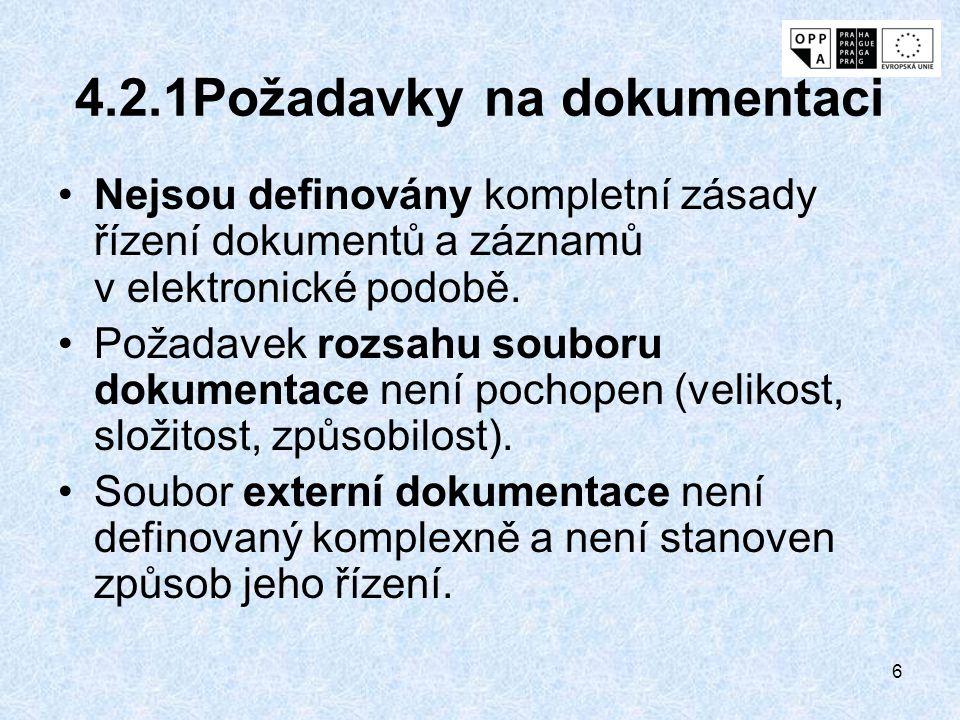 4.2.1Požadavky na dokumentaci
