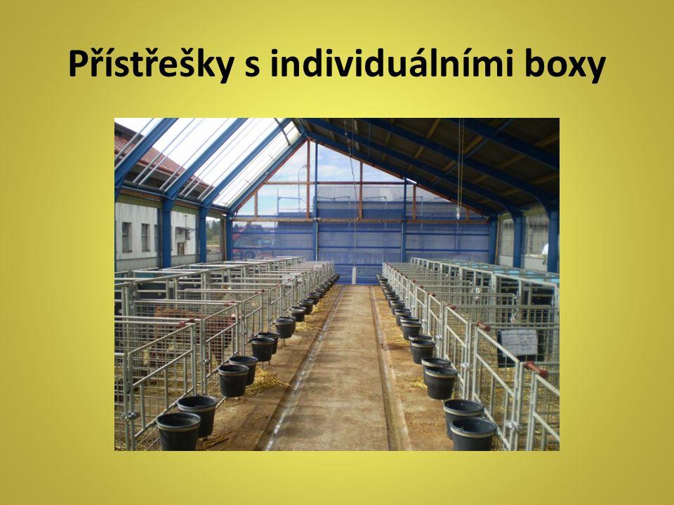 Přístřešky s individuálními boxy