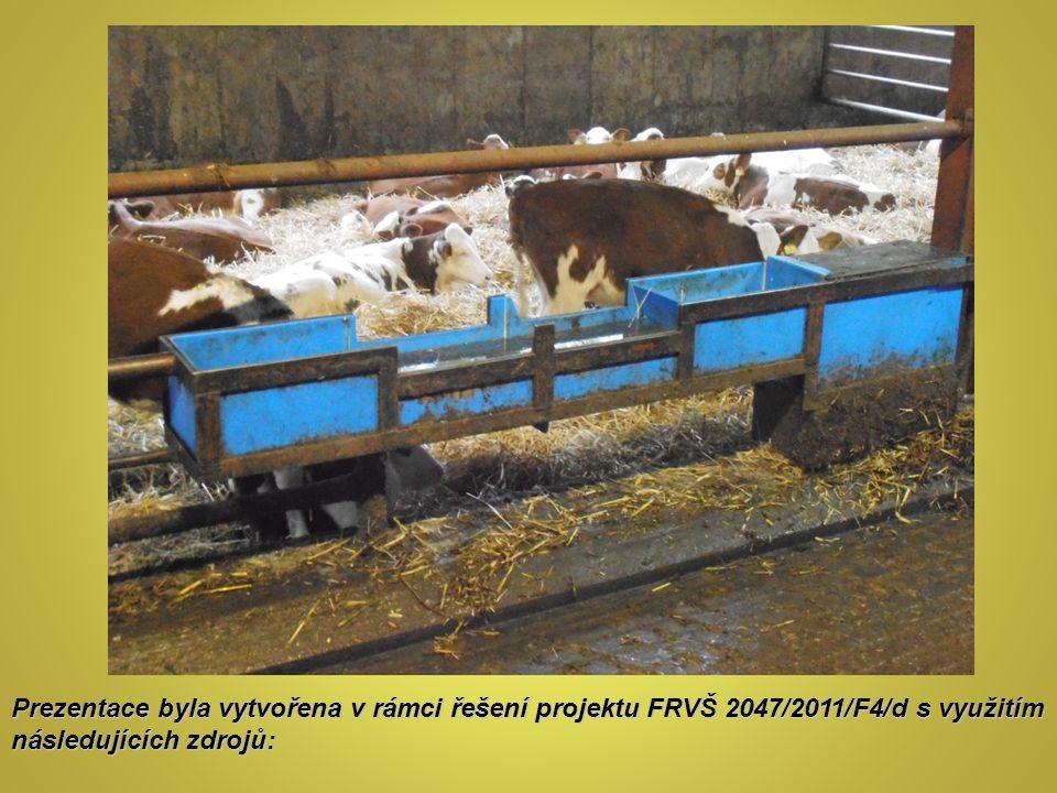 Prezentace byla vytvořena v rámci řešení projektu FRVŠ 2047/2011/F4/d s využitím následujících zdrojů: