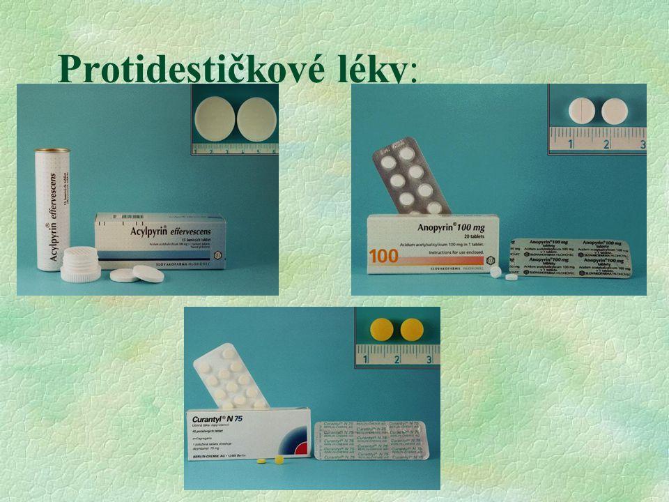 Protidestičkové léky: