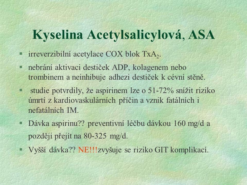 Kyselina Acetylsalicylová, ASA