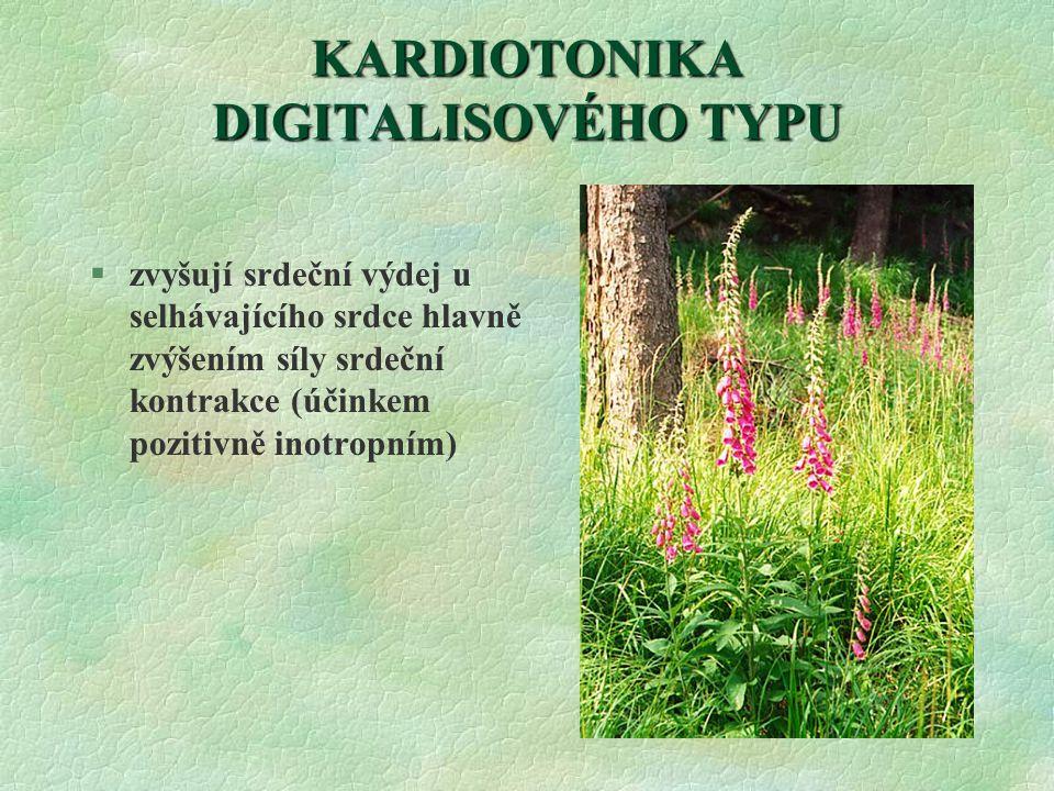 KARDIOTONIKA DIGITALISOVÉHO TYPU