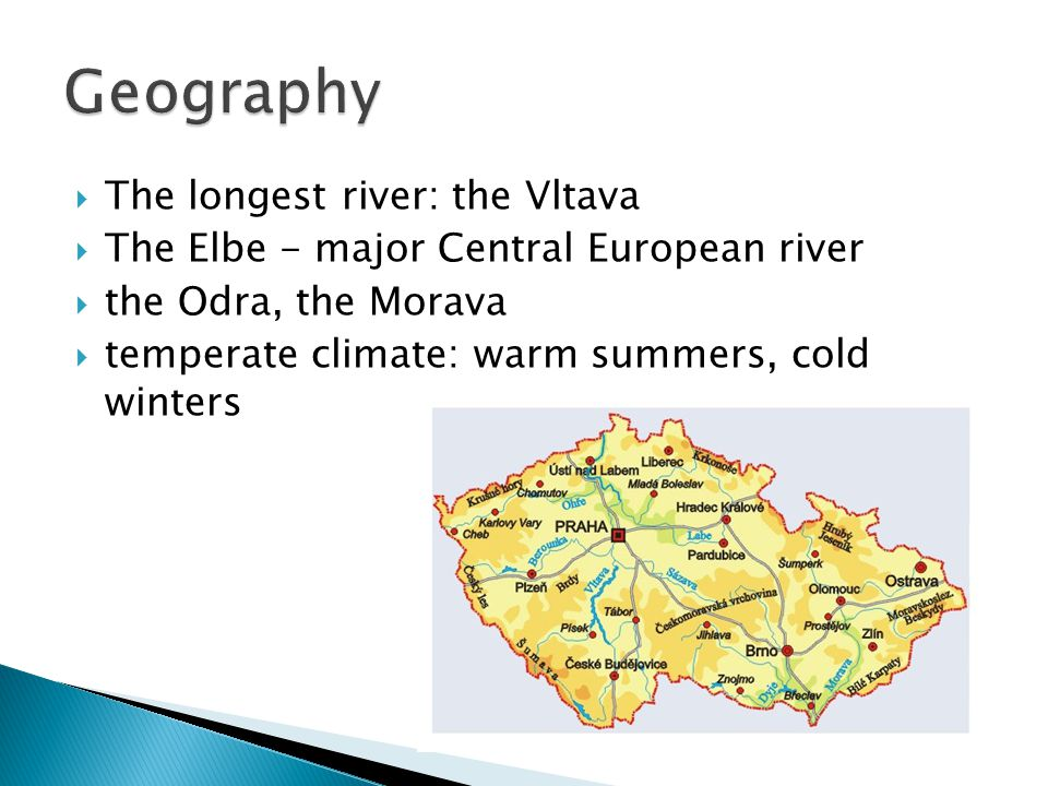 Geography The longest river: the Vltava
