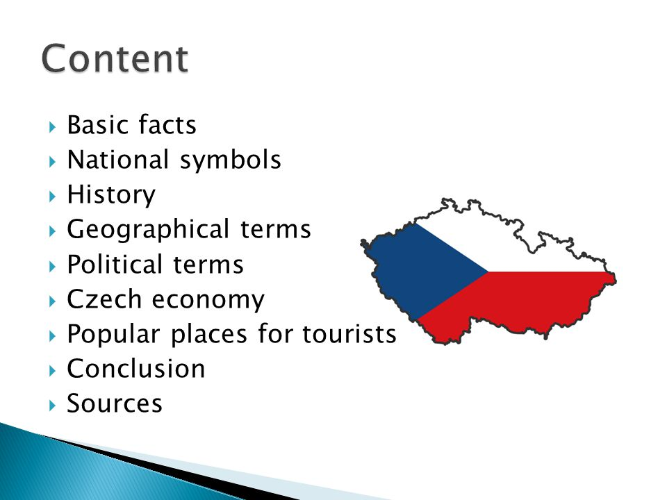 Content Basic facts National symbols History Geographical terms