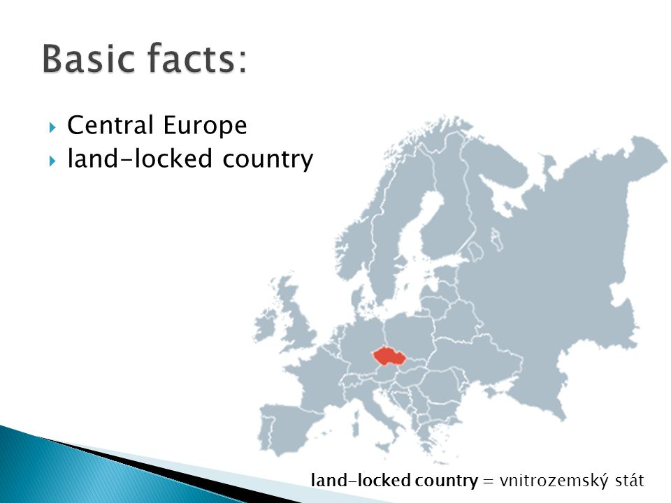Basic facts: Central Europe land-locked country