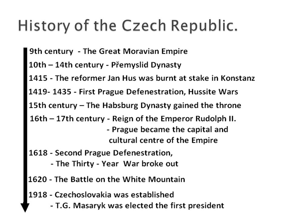 History of the Czech Republic.