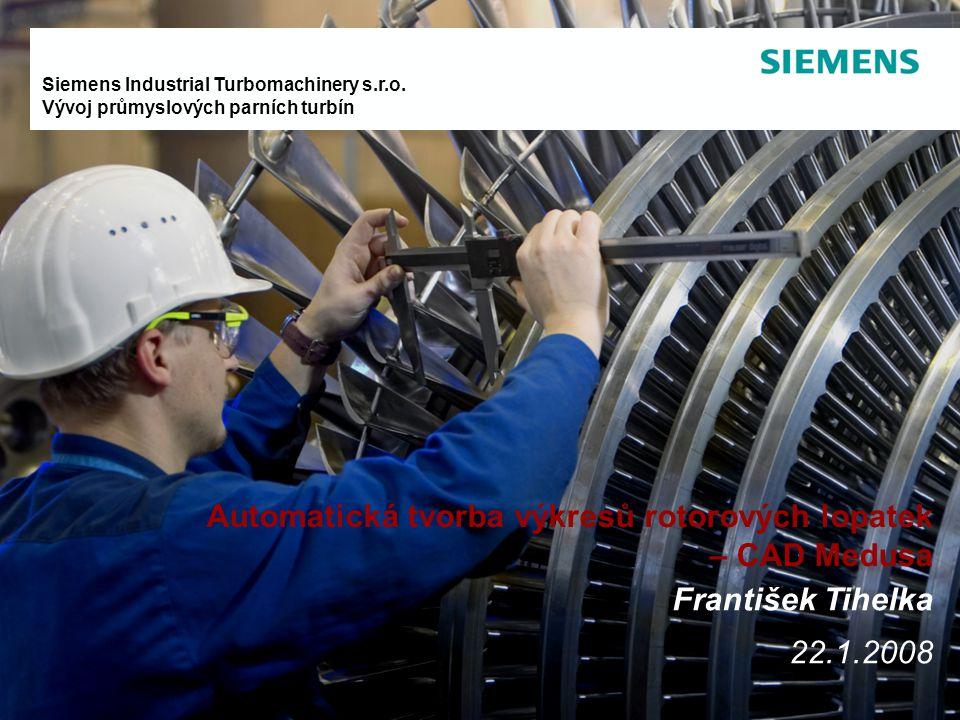 Automatická tvorba výkresů rotorových lopatek – CAD Medusa