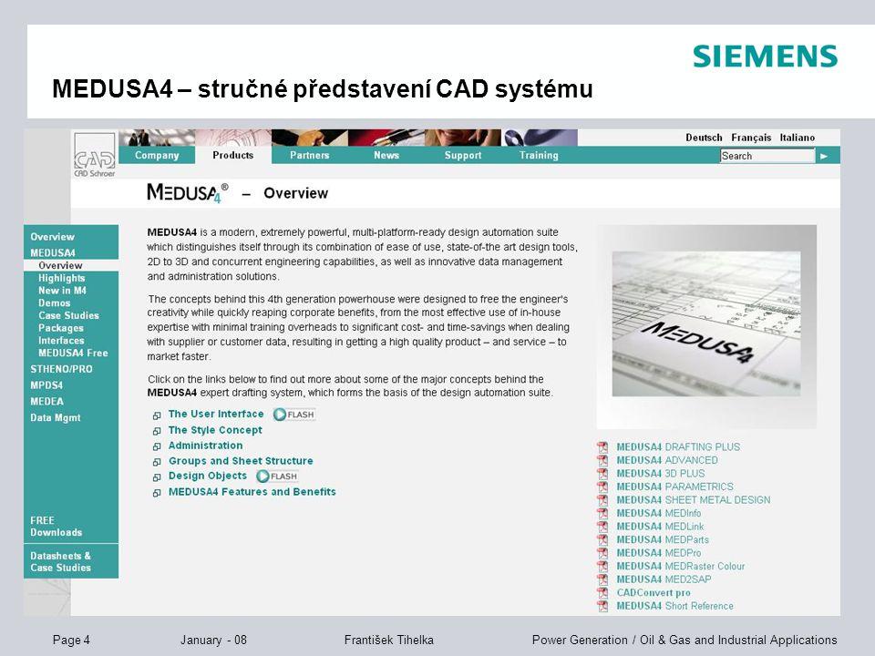 MEDUSA4 – stručné představení CAD systému