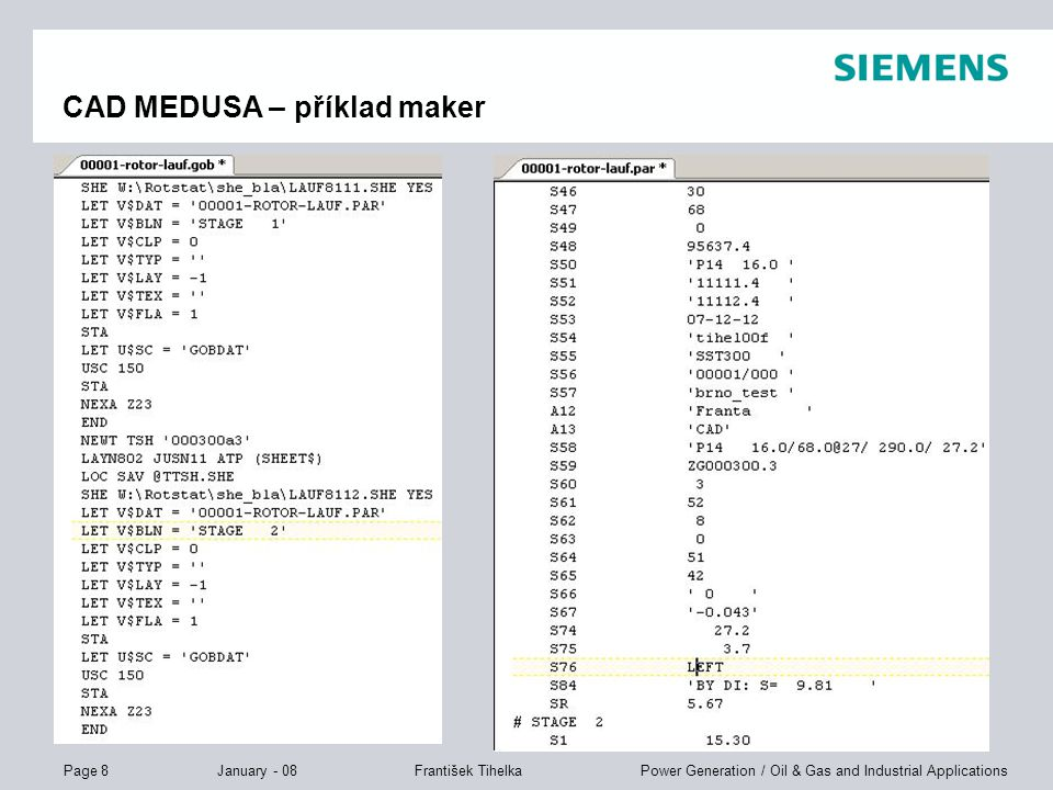 CAD MEDUSA – příklad maker