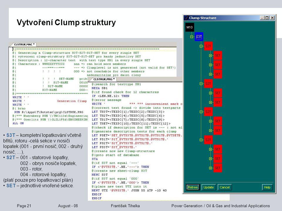 Vytvoření Clump struktury