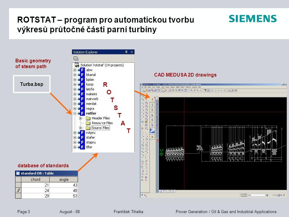 ROTSTAT – program pro automatickou tvorbu výkresů průtočné části parní turbíny