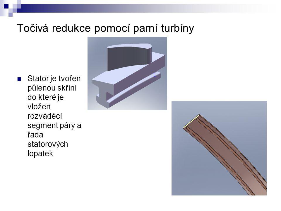 Točivá redukce pomocí parní turbíny
