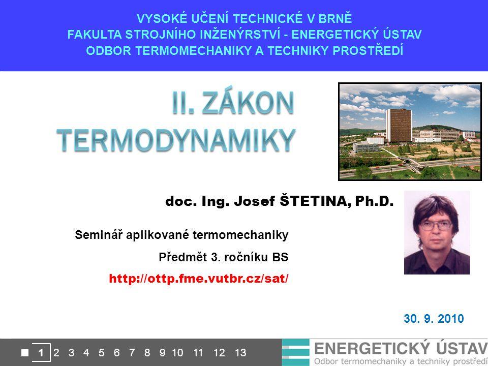 II. Zákon termodynamiky